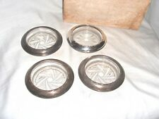 GS2 - SET OF FOUR VINTAGE AMSTON STERLING SILVER 144 DRINK COASTERS