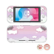 For Nintendo Switch Lite Skin Decal Anime Vinyl Sticker & 2PCS Cat Claw Caps