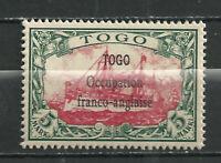 GERMANY KOLONIEN TOGO 1914 FRANCO - BRITISH BESETZUNG  MNH