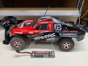 TRAXXAS SLASH 2WD 1/10 RC CAR TRUCK W/ BODY & RADIO BRUSHED *FULLY FUNCTIONAL*