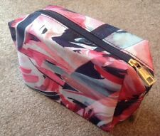 Accessorize Cosmetic Make-Up Bag Pink Patterned New