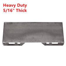 "5/16"" Steel Quick Tach Attachment Mount Plate Skid Steer Loader Bobcat Kubota"