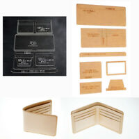 WUTA Leather Clear Acrylic Stencil Template Wallet Pattern Craft Tool Gift