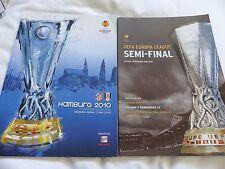 Fulham Europa Liga Semi/final 2010 Hamburgo Atlético Madrid coincide con programas
