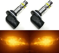 LED 50W 896 H27 Orange Amber Two Bulbs Fog Light Replacement Upgrade Lamp