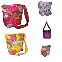 Vintage Tote New Purse 5 Pc Kantha Fabric Shoulder Bag Handmade Shopping Diwali