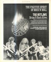 """(RST14) POSTER/ADVERT 13X11"""" THE OUTLAWS : BRING IT BACK ALIVE"""