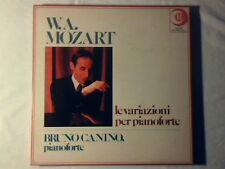BRUNO CANINO Mozart: le variazioni per pianoforte 4lp RARISSIMO NUOVO UNPLAYED!!