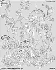 Burial Ground Wrath of Skullmaster Iwata Artool Craig Fraser Airbrush Stencil
