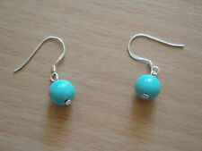 8mm Turquoise Gemstone Earrings  er34
