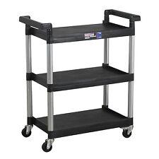 Sealey CX308 3-Level Shelf Composite Garage/Workshop/Mechanics/Work Trolley New