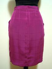 VALENTINO VINTAGE '80 Gonna Donna Seta Woman Silk Skirt Sz.XS - 40