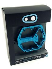 Crank Brothers Stamp 3 Small Pedals, Electric Blue