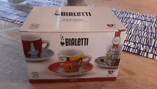 Bialetti Tazzine set of 4 espresso coffee cups and saucers