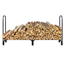 8ft Adjustable Length Outdoor Kitchen Firewood Log Rack Wood Storage Holder