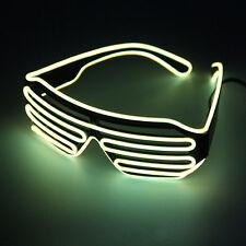 Hot Wire Neon LED Light Up Shutter Shaped Glasses for Costume Red+Blue FE