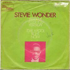 """STEVIE WONDER """"YESTER-ME YESTER-YOU YESTERDAY"""" SP TAMLA MOTOWN 1C 006-90734"""