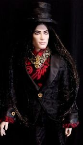 DRACULA - Vampire KEN barbie doll ooak Gothic steam punk vintage repaint
