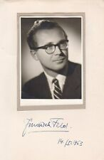 JINDRICH FELD  Composer siged photo -  important Czech 20th century Composer