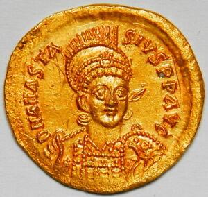 Byzantine Empire Anastasius I AV solidus (507) aUNC (Sear:4) [4.48 grams]