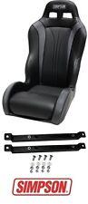 Simpson Vortex Front Seat - Black w/ Rails 2014-2017 Polaris RZR XP 1000 & Turbo