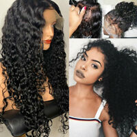 Water Wave Curly 13X6 Lace Front Wig 100% 9A Remy Malaysian Human Hair Wigs Full