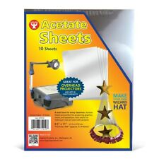 Hygloss Products Overhead Projector Sheets Transparency Plastic- A&C- 10 Sheets
