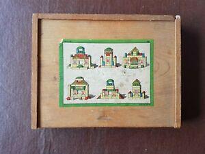Childs Wooden Building Bricks/Blocks  Montessori Vintage in original wooden box