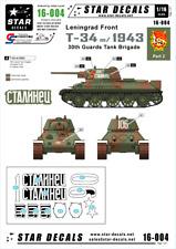Star decal sheet Soviet T-34 model/1943 - 30th Guards Leningrad 1943 1/16 16-004