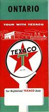 1957 Texaco Road Map: Ontario NOS