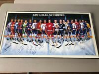 AUTHENTIC 500 Goal Scorers Poster Signed by 17 and Ron Lewis HOWE HULL
