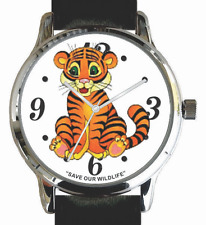 """""""Save Our Wildlife"""" Tiger Image Watch has a Black Strap And Donation to AWF"""