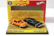 1:64 Hot Wheels 40th Boulevard Burners Set CUDA + Charger NEW chez Premium-MODELC