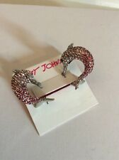Betsey Johnson Ocean drive Silver Pave Dolphin Earrings $55 #BE19