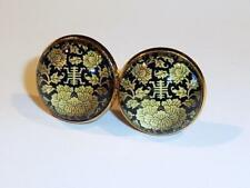 GOLD PLATED CUFFLINKS - ORIENTAL DESIGN - GIFT BAG - FREE UK P&P......W1338