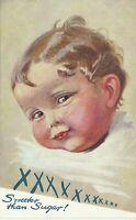 Raphael Tuck Curly Locks Baby Art Sweeter Than Sugar Oilette 3128 Postcard