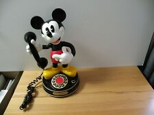 Vintage Mickey Mouse Phone Desk Telephone Dancing Disney Telemania Collectible
