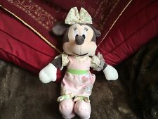 Disney Minnie Mouse Patchwork Collection Musical Pull Soft Toy Pram Cot Birth+