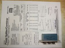 Mini-Circuits ZSC-2-1-75 .25-300 MHz Splitter/Combiner 75 Ohm BNC, Used.