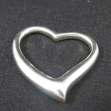 Vintage Sterling Silver Heart Love Open Slider Pendant