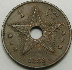 CONGO 1 Centime 1888 - Copper - VF/XF - 1952 ¤
