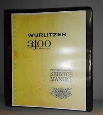 Wurlitzer 3400 Series Phonograph Record Jukebox Service Manual