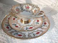 Service à thé Porcelaine Collection Assiette Dessert BAVARIA 3 pièces Floral 3