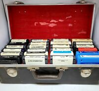 Lot of 24 Vintage 8-track Cassettes With Hard Case, Abba,Johnny Mathis, etc...