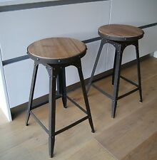Café-style breakfast bar stool, Aged Rust colour, adjustable height