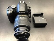Nikon D3000 Digital SLR 18-55mm Camera - Black With Charger/computer Attachment