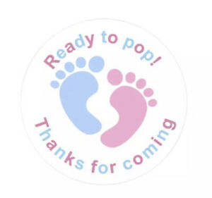 45mm Thank You For Coming To My Baby Shower stickers. Sets of 24, 48 & 72