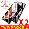 Screen Protector TWIN 2PACK Gorilla Tempered Glass For Apple iPhone X XR XS-MAX