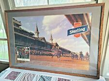 Framed, Rare, Vintage Sterling Beer/Kentucky Derby Advertising Poster