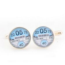 Tax Disc Cufflinks - Personalised Wedding Cufflinks - Groom, Best Man or Ushers